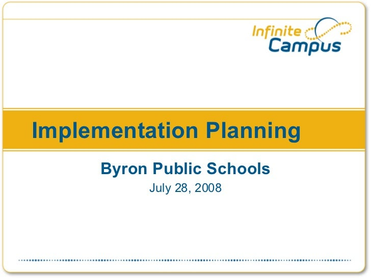 Infinite Campus Implementation