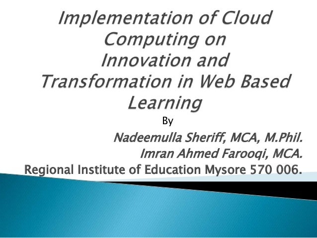 Implementation of cloud computing