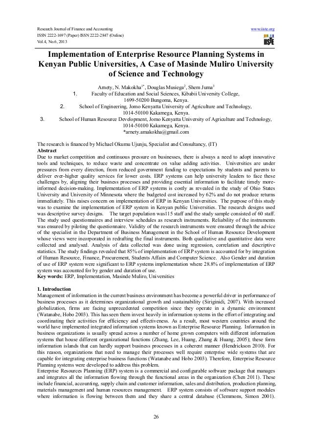 Research Journal of Finance and Accounting www.iiste.orgISSN 2222-1697 (Paper) ISSN 2222-2847 (Online)Vol.4, No.6, 201326I...