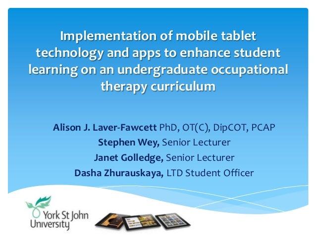 Implementation of mobile tablet technology (HEA Conference, June 2013)