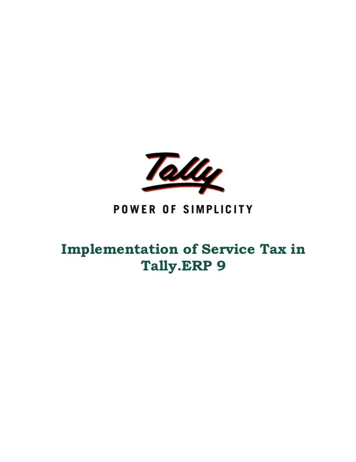 Service Tax In Tally Erp 9