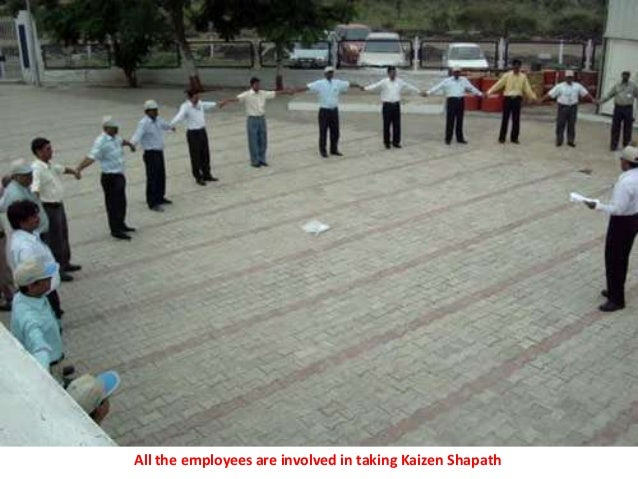 All the employees are involved in taking Kaizen Shapath