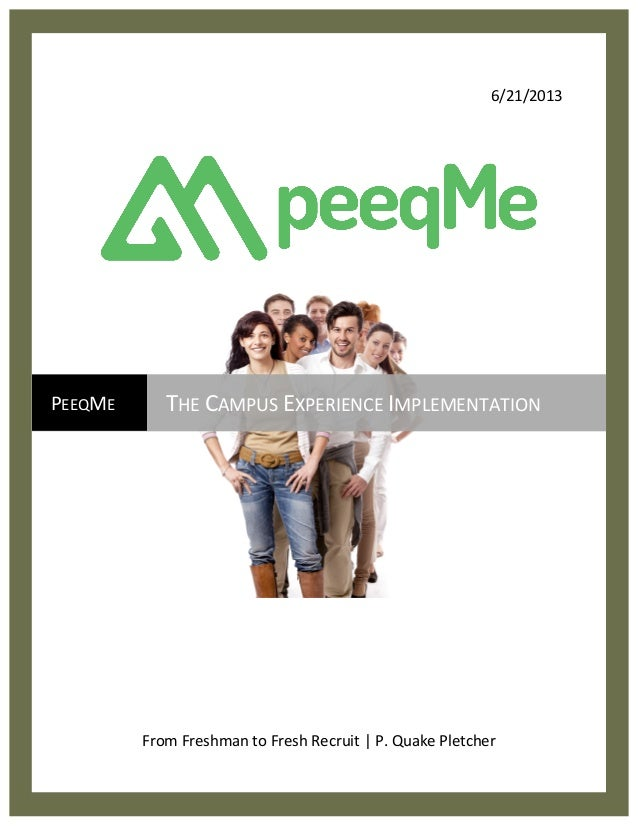 PeeqMe Campus Experience Implementation Guide