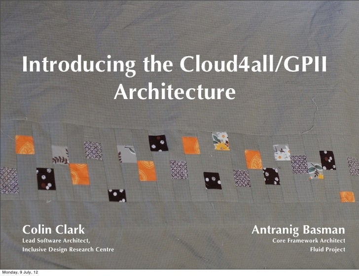 Cloud4all Architecture Overview