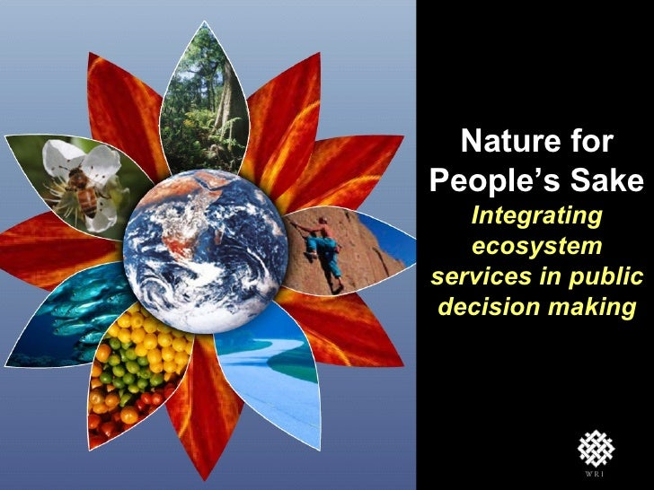 Nature for People's Sake Integrating ecosystem services in public decision making