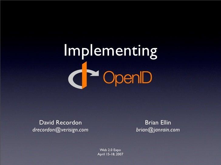 Implementing OpenID