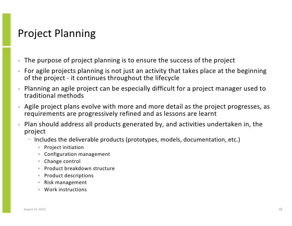 Project planning the purpose of project planning is to ensure