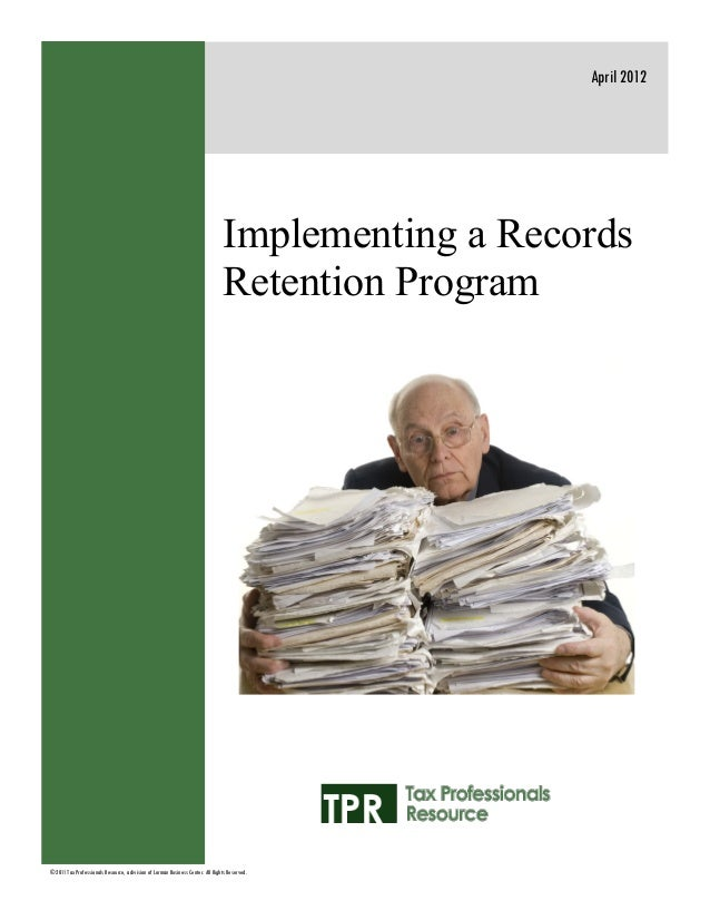 Implementing a records_retention_program_st