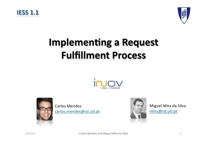 Implementing a request fulfillment process