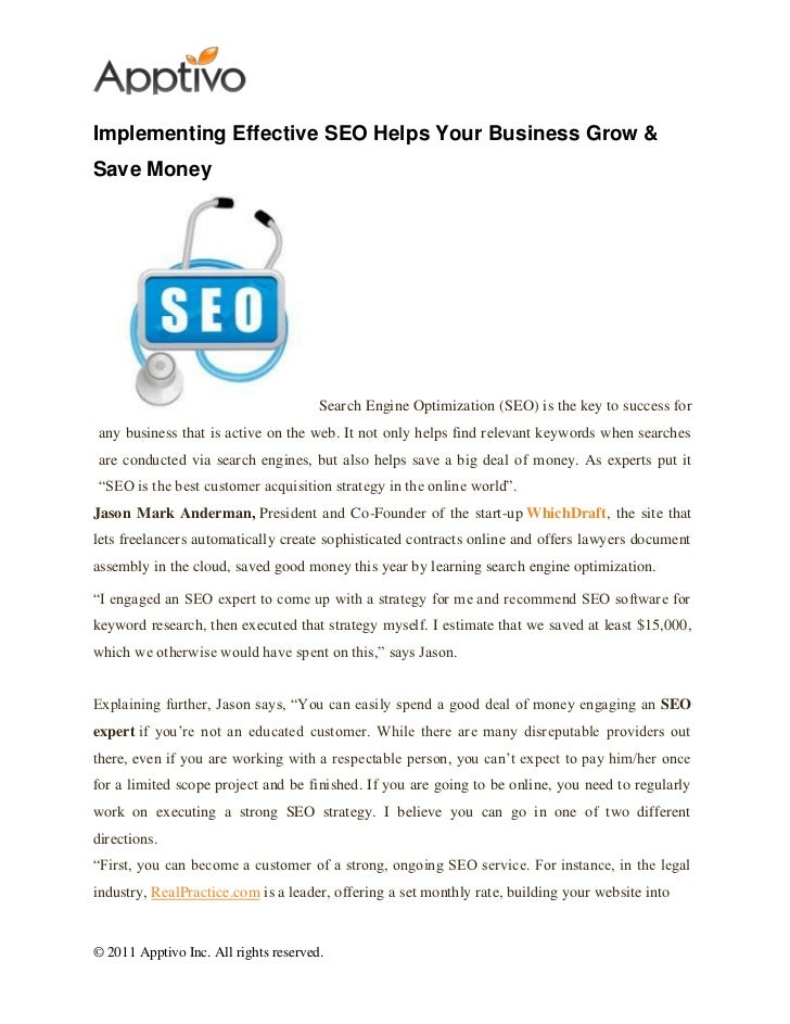 Implementing Effective SEO Helps Your Business Grow &Save Money                                       Search Engine Optimi...