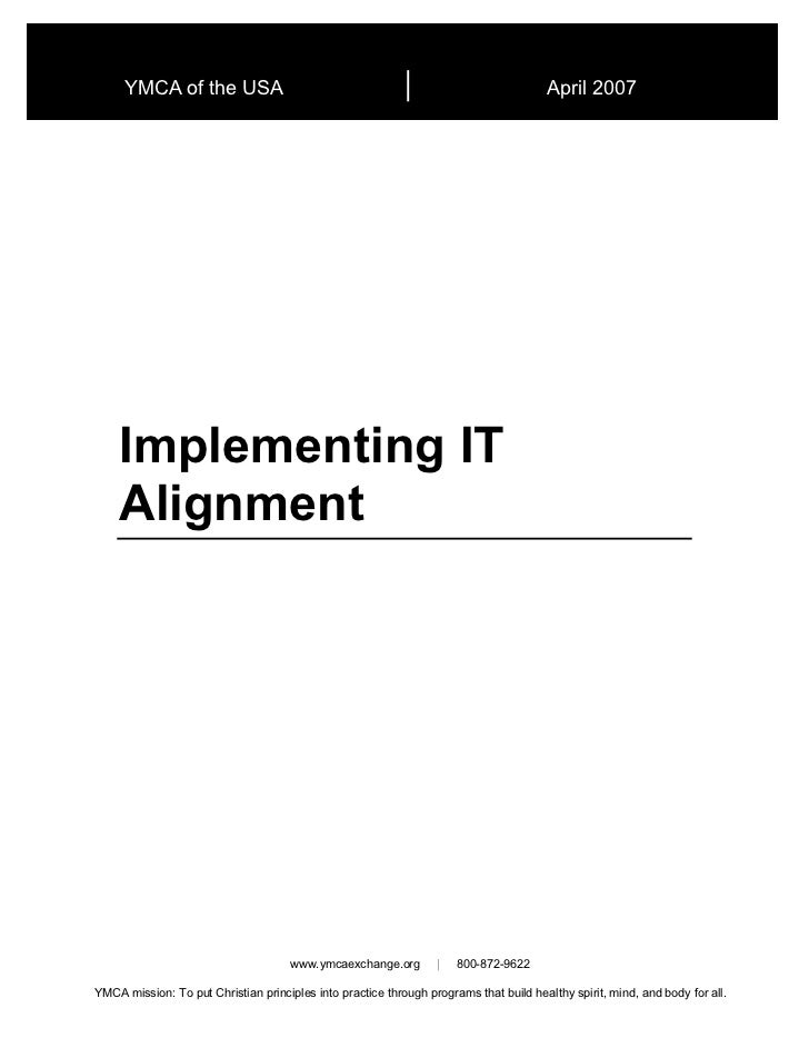 Implementing IT Alignment