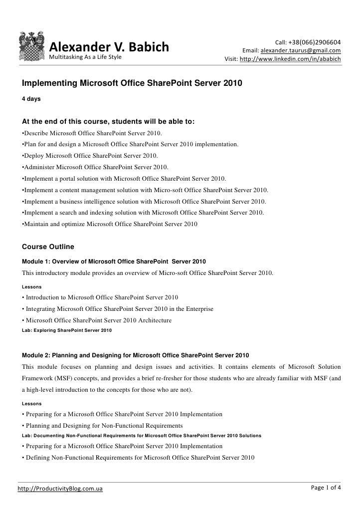 Implementing microsoft office share point server 2010