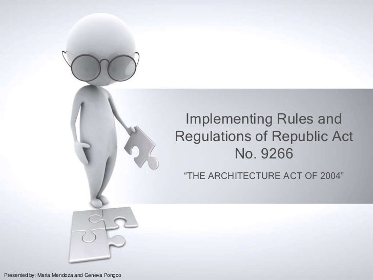 Implementing Rules and                                                Regulations of Republic Act                         ...