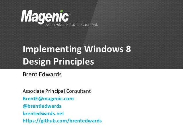 Implementing Windows 8 Design Principles