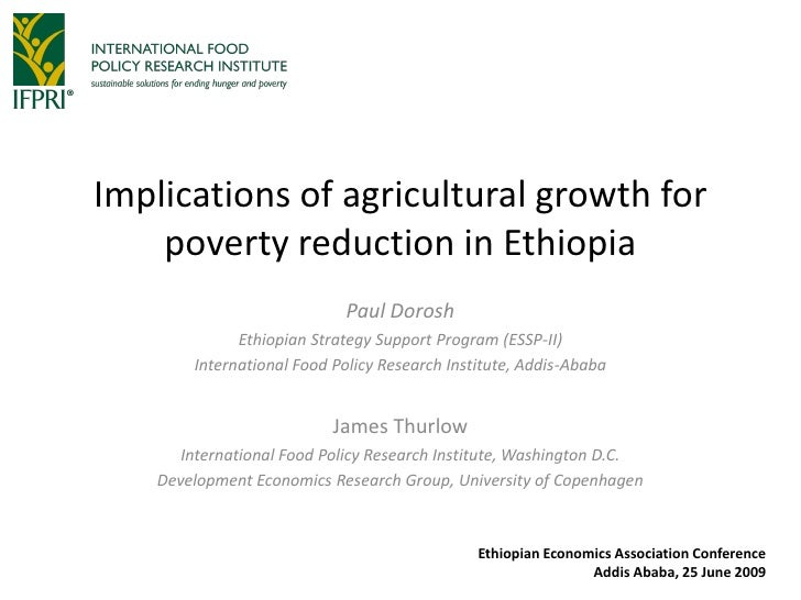 Implications of agricultural growth for poverty reduction in Ethiopia