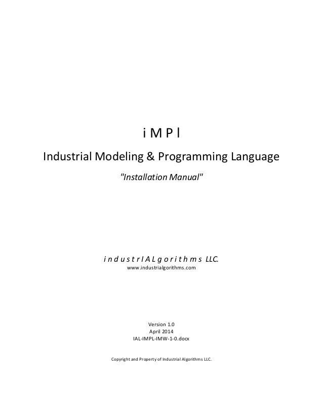 i  M  P  l      Industrial  Modeling  &  Programm...