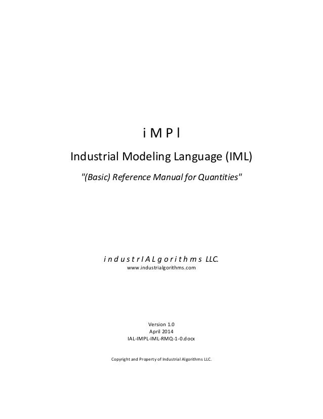 i  M  P  l      Industrial  Modeling  Language  (...
