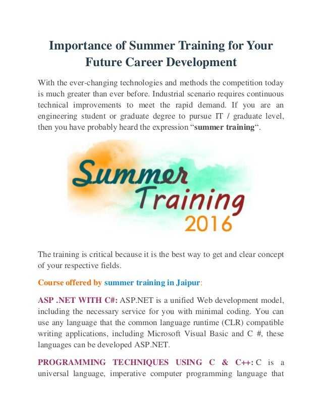 what are your aims for your future career development Mit career advising & professional development search form search  logins  but feel free to amend your career action plan as needed your goals and priorities.