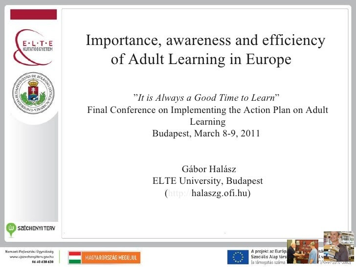 Importance, awareness and efficiency of adult learning in Europe