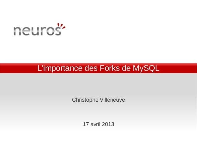 L Importance des forks de MySQL