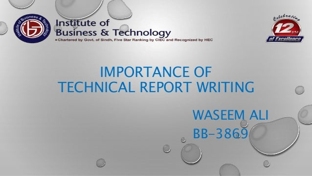 Technical report writing topics