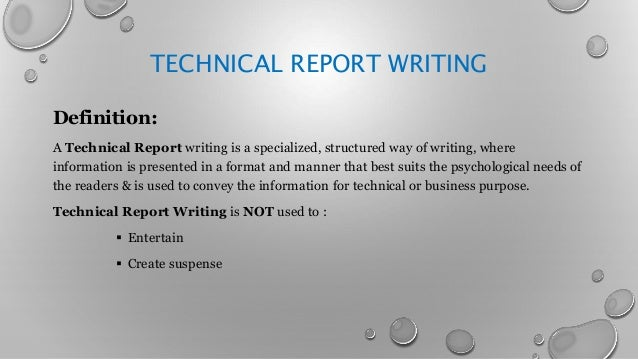 How to write technical reports engineering
