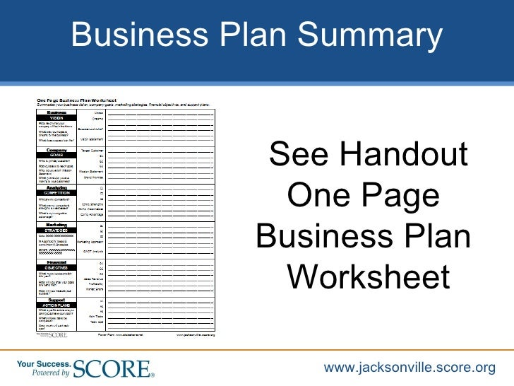 Simple small business plan