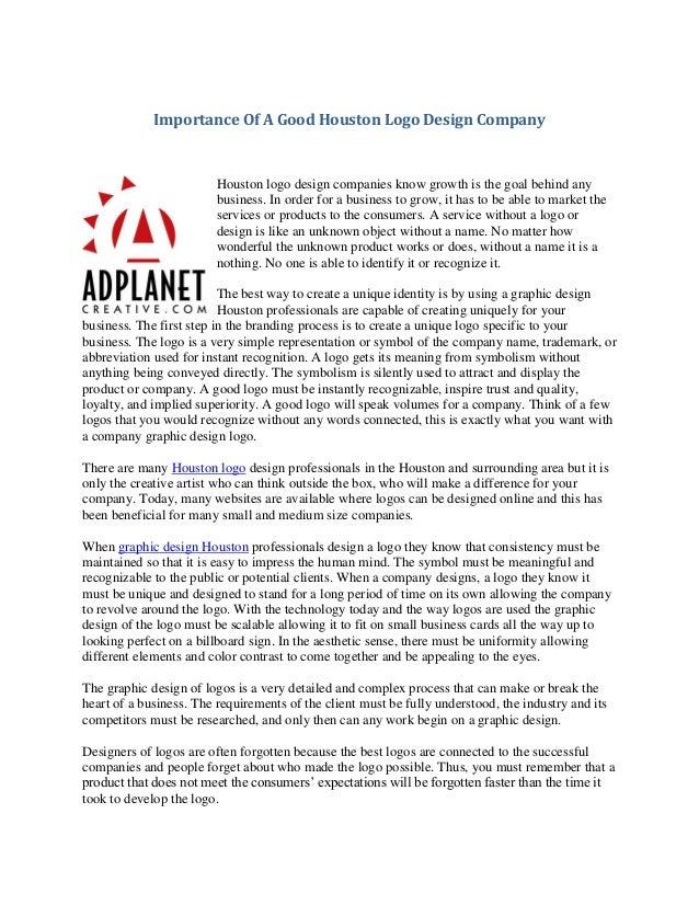 Importance Of A Good Houston Logo Design Company