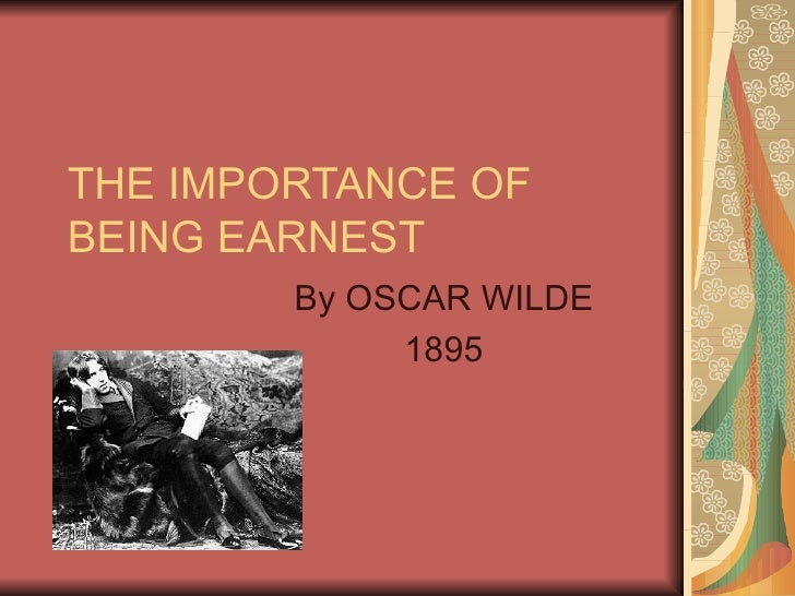 ... Oscar Wilde~!/~s The Importance of Being Earnest at EssayPedia.com