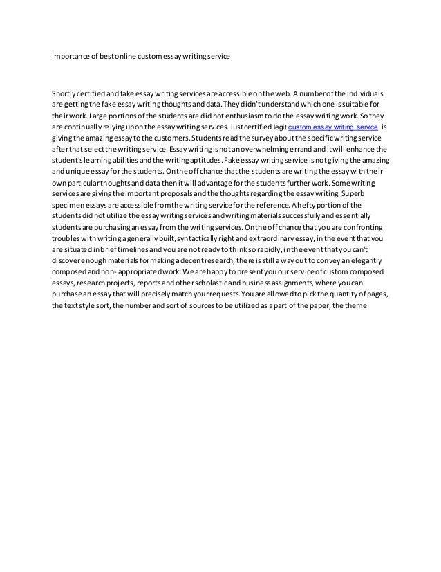 Do Essay Writing Services Work