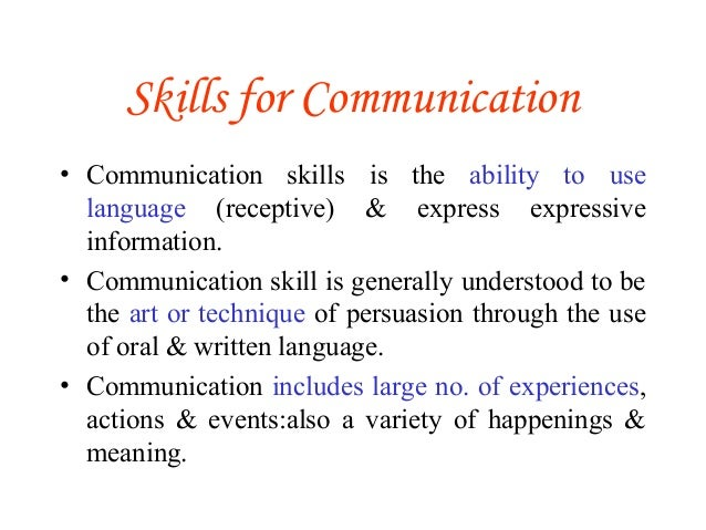 importance of communication skills for a This paper is all about communication skills at workplace firstly, the introduction and definition of communication skills at workplace have been given then.