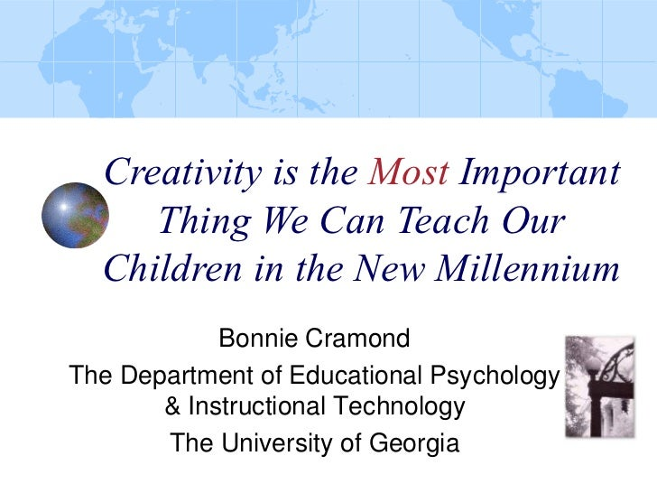 Creativity is the Most Important Thing We Can Teach