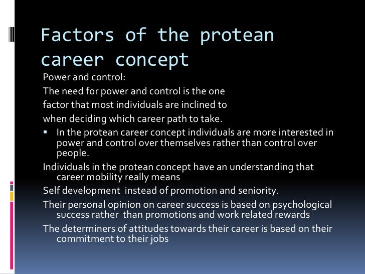 psychological contracts and boundaryless and protean careers management essay The traditional psychological contract in which an then we will turn to an overview of the papers in this special protean and boundaryless career.