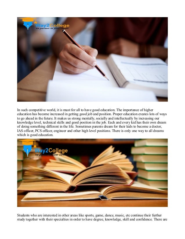 the importance of education essay