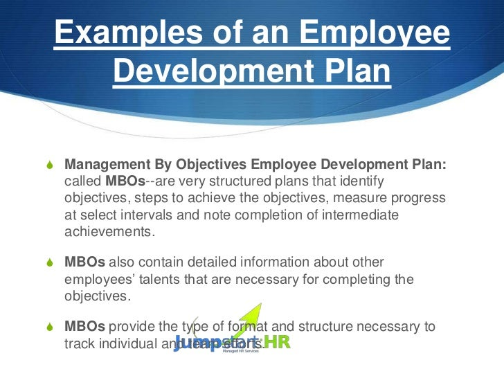 Personal Development Plan Example  CityEsporaCo