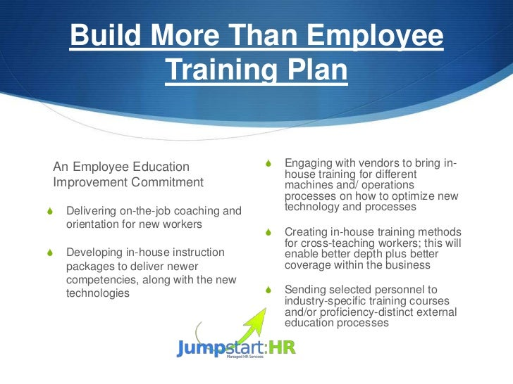 Employee development plan sample