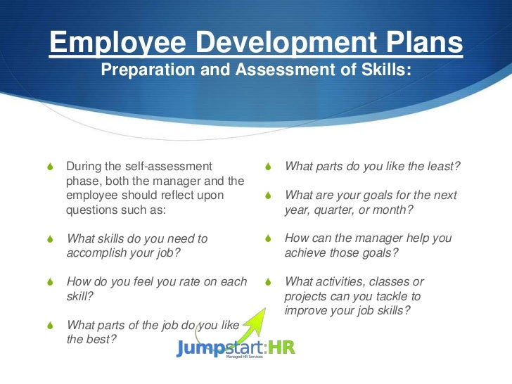 personal development plan for hr manager Municipality's performance management and development system should training and development needs in the hr plan, personal development plans.