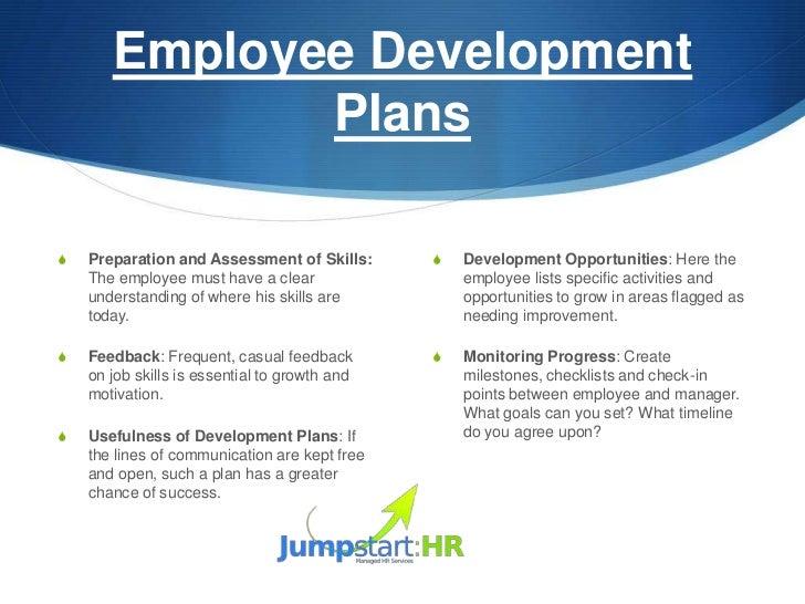 Employee development plan – Employee Development Plan