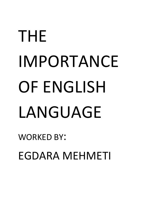 Essay on the help importance of english language