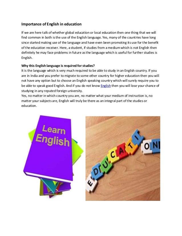 the importance of english language essay