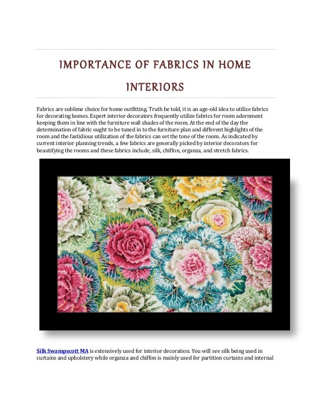 importance of fabrics in home interiors