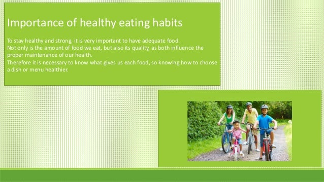 good thesis statement on healthy eating