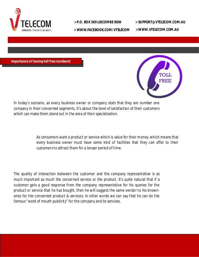 > P.O. BOX 569 LIDCOMBE NSW  > SUPPORT@VTELECOM.COM.AU  > WWW.FACEBOOK.COM/VTELECOM  > WWW.VTELECOM.COM.AU  Importance of ...