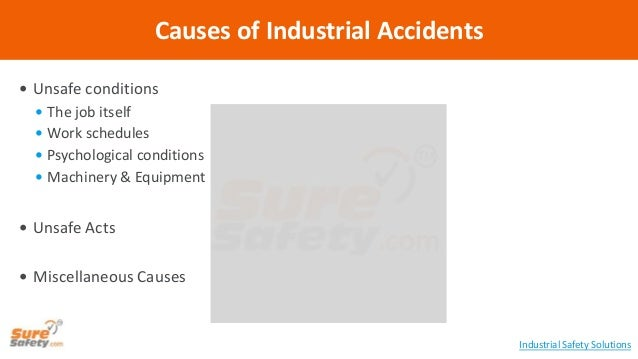  Unsafe conditions  The job itself  Work schedules  Psychological conditions  Machinery & Equipment  Unsafe Acts  M...