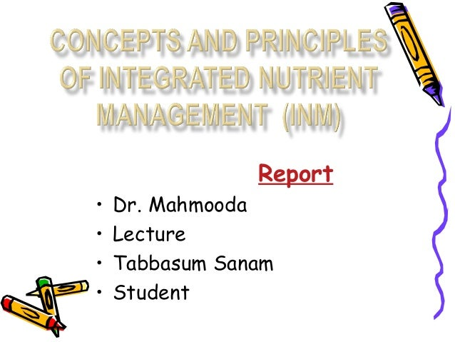 Importance of integrated nutrient management