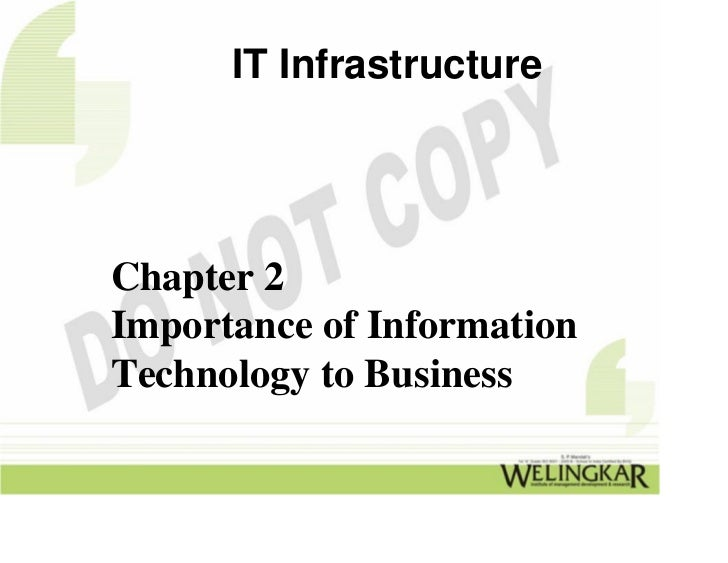 IT InfrastructureChapter 2Importance of InformationTechnology to Business