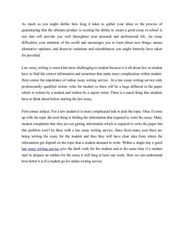 legal essay writing workshop