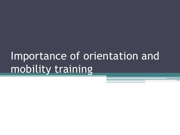 Importance of orientation and mobility training<br />