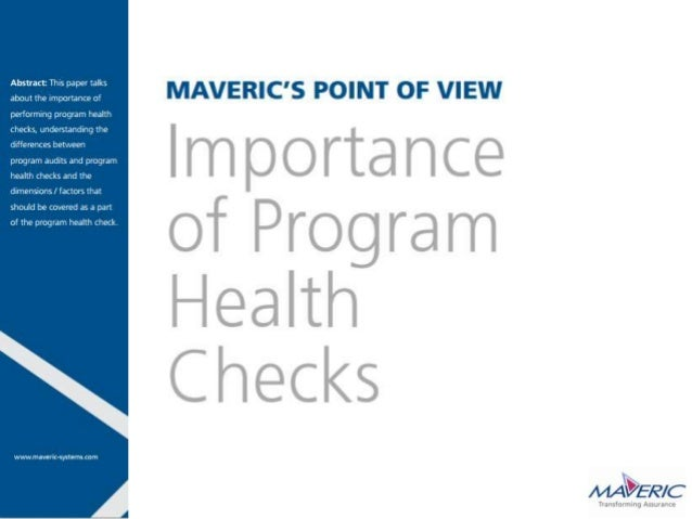 Introduction:• Organizations may view program health checks as unnecessary expenses, especially when thereare program audi...