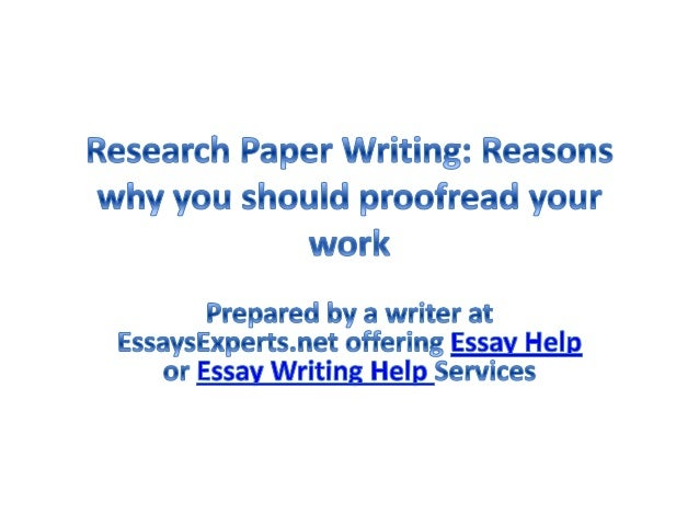 Proofreading research paper